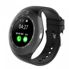 Buy 1.54 inch Round Touch Screen Smart Watch, Supports Pedometer, Sedentary Reminder, 0.3MP Camera, Sim Card - Black