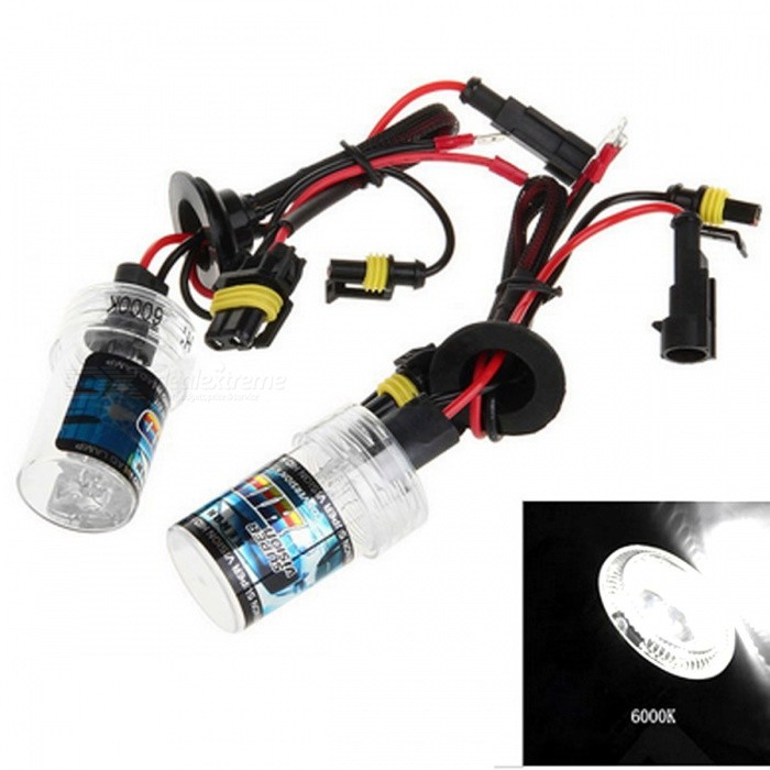 H1 12V 35W White Light 6000K 3500LM Car HID Xenon Headlight (2 PCS)Headlights<br>Color Temperature6000KModelH1Quantity1 setMaterialPlastic + quartz tubeForm  ColorBlack + Red + Multi-ColoredTypeHID LampCompatible Car ModelSuitable for all 12V cars with H1 interfaceTypeACInput Voltage9~16 VRate Voltage12VOutput Power35 WColor BINWhiteTheoretical Lumens3500 lumensActual Lumens3500 lumensLife Span30000 hoursSocket TypeH1Working Temperature-40-105 ?Packing List2 x Xenon Headlights<br>