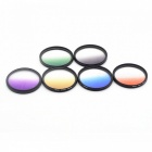 Photography Special 58mm Gradual Filter Suit for Camera Lens - Black + White + Multicolor