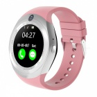Buy 1.54 inch Round Touch Screen Smart Watch, Supports Pedometer, Sedentary Reminder, 0.3MP Camera, Sim Card - Pink