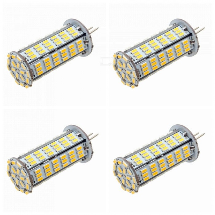ZHAOYAO G4 5W AC/DC 12V 3014 SMD 126-LED LED Light Bulb - Warm White (4PCS)G4<br>Color BINWarm White, 4PCSMaterialPCBForm  ColorWhiteQuantity4 setPower5WRated VoltageOthers,AC/DC-12V VConnector TypeG4Chip Type3014Emitter TypeOthers,3014 SMDTotal Emitters126Actual Lumens200-500 lumensColor Temperature3000KDimmableNoBeam Angle360 °Other Features2800-3500KPacking List4 x LEDs<br>