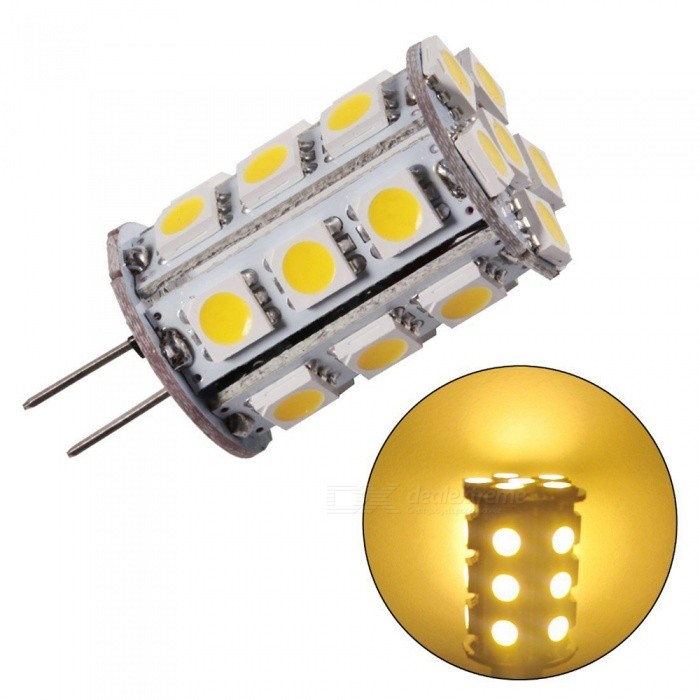ZHAOYAO G4 4W AC/DC 12V 5050 SMD 24-LED Light Bulb - Warm WhiteG4<br>Color BINWarm White -1PCMaterialPCBForm  ColorWhiteQuantity1 setPower4WRated VoltageOthers,AC/DC-12 VConnector TypeG4Chip Type5050Emitter Type5050 SMD LEDTotal Emitters24Actual Lumens150-350 lumensColor Temperature3000KDimmableNoBeam Angle360 °Other Features2800-3500KPacking List1 x LED<br>