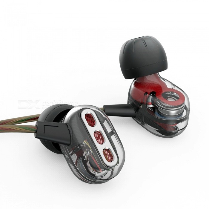 QKZ KD8 Double Unit Drive 3.5mm Wired In-Ear Earphone with Mic, HIFI Bass Subwoofer Earbud, DJ Monito Running Sport HeadsetHeadphones<br>Form  ColorTranslucent BlackBrandOthers,QKZModelKD8MaterialABS + PTEQuantity1 DX.PCM.Model.AttributeModel.UnitConnection3.5mm WiredBluetooth VersionNoConnects Two Phones SimultaneouslyNoCable Length125 DX.PCM.Model.AttributeModel.UnitLeft &amp; Right Cables TypeEqual LengthHeadphone StyleBilateral,Earbud,In-EarWaterproof LevelIPX2Applicable ProductsUniversal,IPHONE 7Headphone FeaturesHiFi,Noise-Canceling,Volume Control,With Microphone,For Sports &amp; ExerciseRadio TunerNoSupport Memory CardNoSupport Apt-XNoChannels2.0Impedance16 DX.PCM.Model.AttributeModel.UnitDriver Unit10MMBattery TypeOthers,NOPacking List1 x KD8 Earphone3 Set x Ear caps1 Set x Headphone hook1 x Ear box<br>