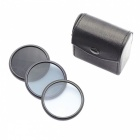 Photography 52mm Light Reducing Mirror Suit ND2 / ND4 / ND8 for Camrea Lens - Black