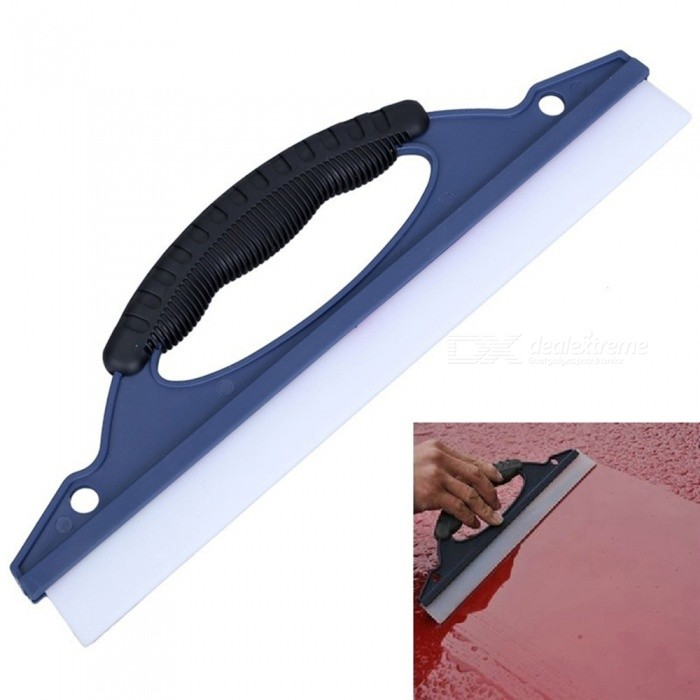 CARKING Portable Flexible Silicone Hand Blade Wiper Cleaning Tool for Car WindowCar Cleaning Tools<br>Form  ColorBlue + Black + Multi-ColoredModelA/NQuantity1 pieceMaterialPlasticShade Of ColorBlueTypeCar WashesPacking List1 x Car Window Cleaning Tool<br>