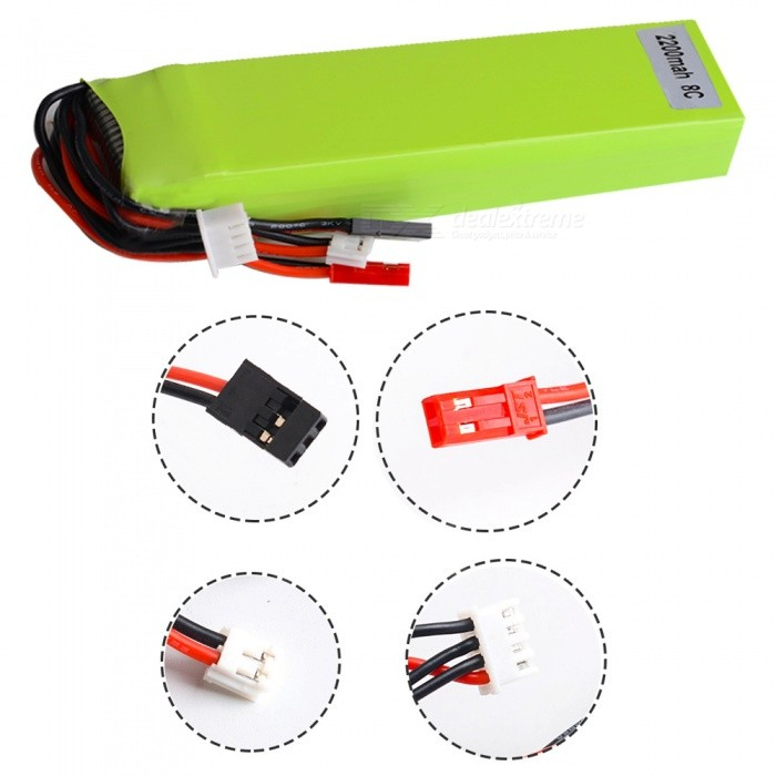 11.1V 2200mAh 3S AT9 AT10 AT90S Devo7 RC Li-polymer BatteryBatteries &amp; Chargers<br>Form  ColorGreen + Red + Multi-ColoredModelRCMaterialLi-polymer batteryQuantity1 setCompatible ModelsAT10 AT90SNominal Capacity2200 mAhBattery TypeLi-polymer batteryVoltage11.1 VInput Voltage11.1 VOutput Voltage11.1 VPower AdapterOthersPacking List1 x RC Battery<br>