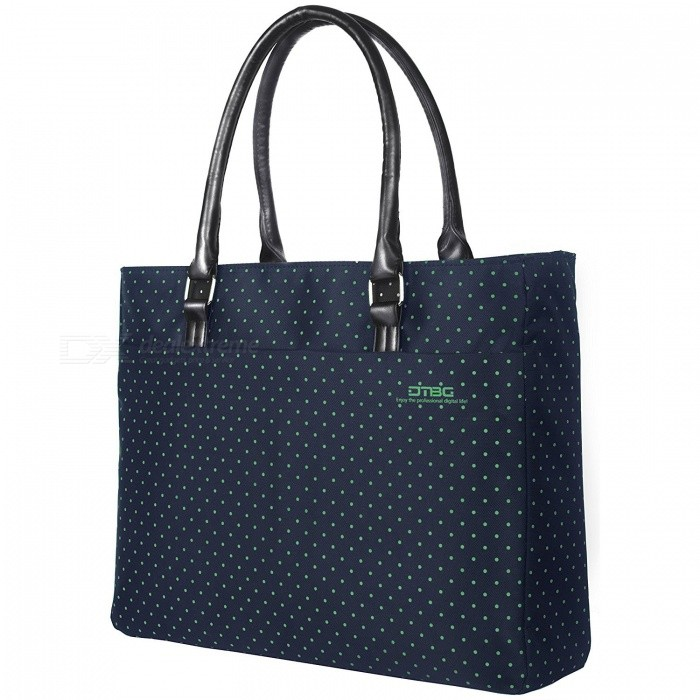 DTBG D8209W 15.6 Nylon Casual Womens Laptop Tote Bag, Durable Handbag (Blue with Green Dot)Bags and Pouches<br>Form  ColorBlue with Green DotModelD8209WQuantity1 pieceShade Of ColorBlueMaterialNylonCompatible Size15.6 inchTypeTote BagsPacking List1 x Tote bag<br>