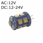 ZHAOYAO G4 2W AC/DC 12V 5050 SMD 13-LED Light Bulb - Warm White