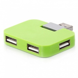 ZHAOYAO Portable USB 2.0 4-Port HUB Splitter Converter - Green