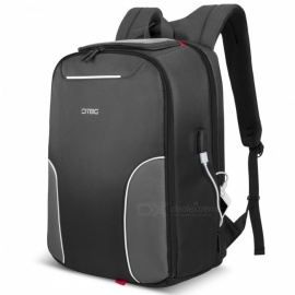 "DTBG 17.3"" Nylon Lightweight Durable Laptop Backpack with USB Charging Port"