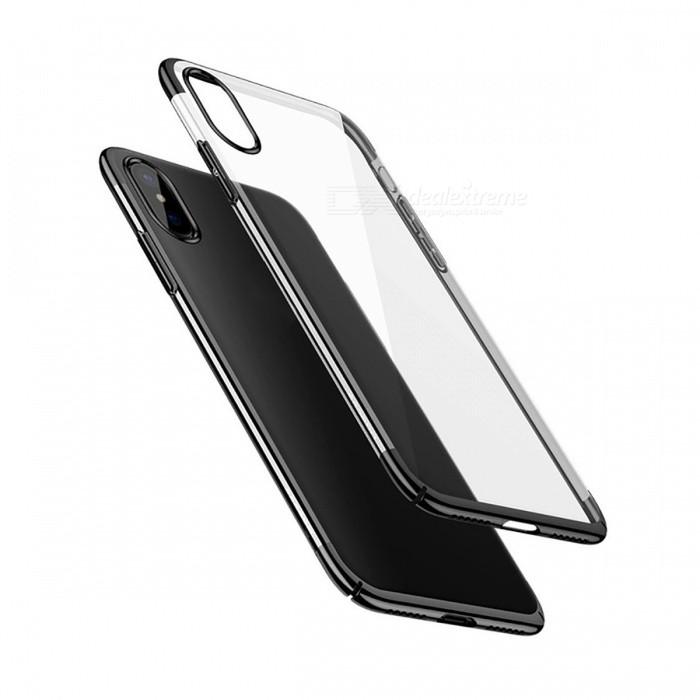 Baseus Protective Ultra Thin Luxury Business Transparency Plastic Cover Case for IPHONE X - BlackPlastic Cases<br>Form  ColorBlackQuantity1 pieceMaterialPCCompatible ModelsiPhone XDesignTransparentStyleBack CasesPacking List1 x Case<br>