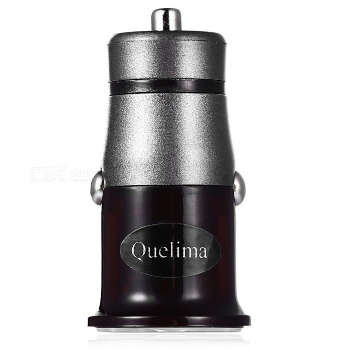 Quelima Portable Mini Fast Charging QC3.0 Car Charger w/ Single USB Port Design - Black, GreyCar Chargers<br>Form  ColorBlack GreyQuantity1 setMaterialABSInputDC 12 - 24V,1 USBOutput interface, output current, output voltageDC 3.6 - 6.5V / 3A, DC 6.5 - 9V / 2A, DC 9 - 12V / 1.5ACable Length0 cmQuick Charge3.0Packing List1 x Charger<br>
