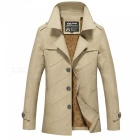 Men's Fashion Cool Outdoor Casual Thick Winter Jacket Coat - Beige (L)