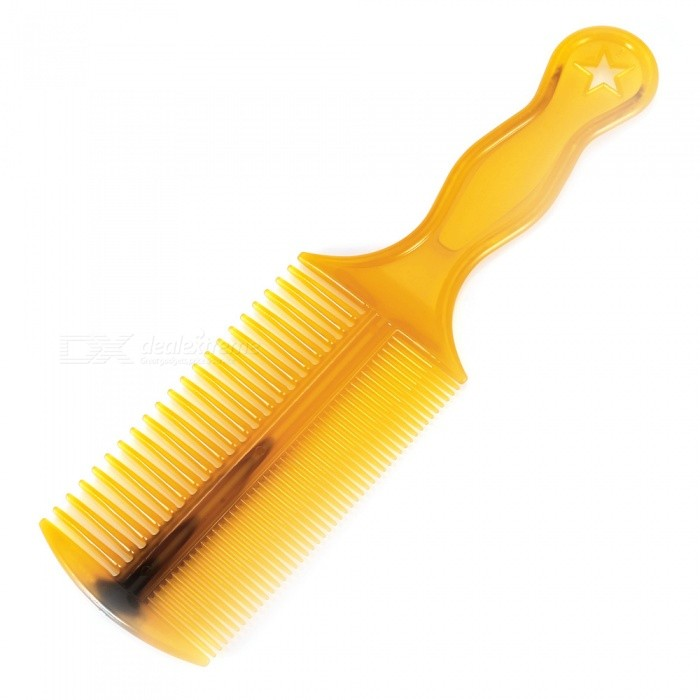 Professional Beauty Tool 21cm Dual Row Glue Comb w/ Handle Design  - YellowHair Brush and Comb<br>Form  ColorYellowMaterialBeef Tendon GlueQuantity1 pieceShade Of ColorYellowPacking List1 x Comb<br>