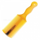 Professional Beauty Tool 21cm Dual Row Glue Comb w/ Handle Design  - Yellow