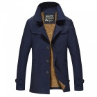 Men's Fashion Cool Outdoor Casual Thick Winter Jacket Coat - Dark Blue (3XL)