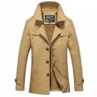 Men's Fashion Cool Outdoor Casual Thick Winter Jacket Coat - Khaki (M)