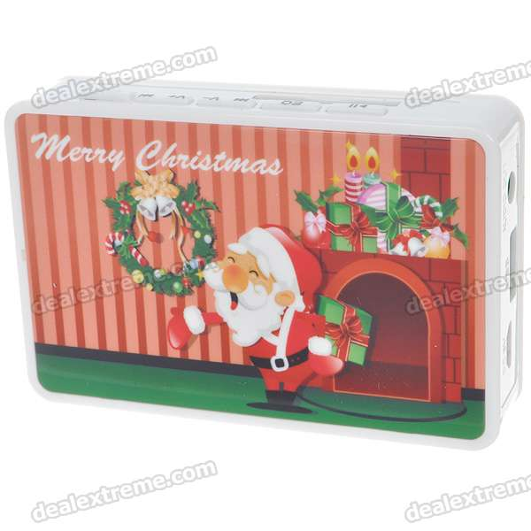 Santa Claus Figure Card Style Portable Rechargeable Battery Power MP3 Music Speaker with SD/USB