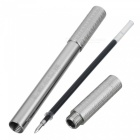 FURA TC4 0.5mm Thickness Smooth Black Ink Titanium Alloy Tactical Gel Pen - Silver