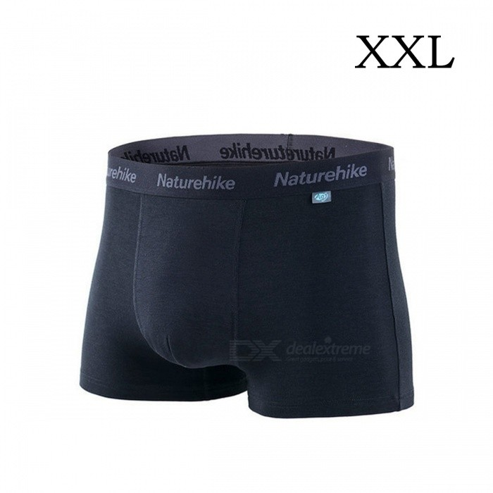 NatureHike Premium Soft Cotton Antibacterial Breathable Mens Fast Dry Boxer Underwear Underpants - Black (XXL)Pants and Shorts<br>Form  ColorBlackSizeXXLModelNH03Y017-NQuantity1 setShade Of ColorBlackMaterialPolyester fiber, cotton fiber, cotton spandexStyleOthers,BoxerWaist Girth84 cmInseam16 cmHip Girth102 cmCrotch Length28 cmThigh Girth49 cmTotal Length28 cmSuitable for Height180-188 cmPacking List1 x Underpants<br>