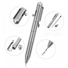 FURA TC4 0.7mm Thickness Smooth Black Ink Titanium Alloy Tactical Ballpoint Pen - Silver
