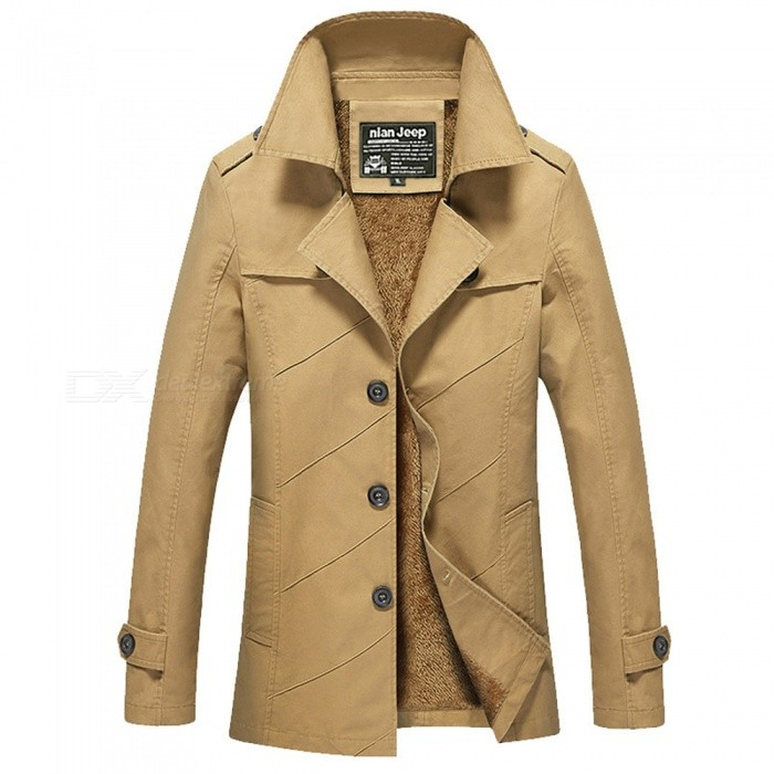 Mens Winter Fashion Cool Outdoor Casual Thick Jacket Coat - Khaki (3XL)Jackets and Coats<br>Form  ColorKhakiSizeXXXLModel1111ZQuantity1 DX.PCM.Model.AttributeModel.UnitShade Of ColorBrownMaterialCotton and polyesterStyleFashionTop FlyZipperShoulder Width49.5 DX.PCM.Model.AttributeModel.UnitChest Girth118 DX.PCM.Model.AttributeModel.UnitWaist Girth118 DX.PCM.Model.AttributeModel.UnitSleeve Length49.5 DX.PCM.Model.AttributeModel.UnitTotal Length81.5 DX.PCM.Model.AttributeModel.UnitSuitable for Height180 DX.PCM.Model.AttributeModel.UnitPacking List1 x Jacket<br>