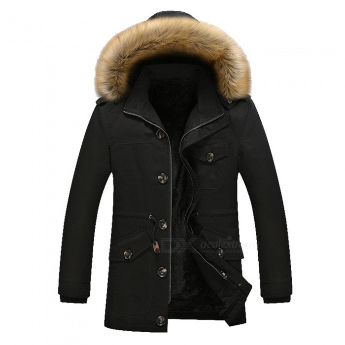 11116 Mens Fashion Faux Fur Thick Casual Outwear Coat - Black (M)Jackets and Coats<br>Form  ColorBlackSizeMModel11116Quantity1 pieceShade Of ColorBlackMaterialCotton and polyesterStyleFashionTop FlyZipperShoulder Width46 cmChest Girth110 cmWaist Girth110 cmSleeve Length59.5 cmTotal Length73 cmSuitable for Height165 cmPacking List1 x Coat<br>