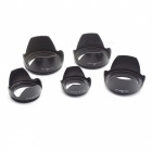 Photography Universal 58mm Lotus Petal Style Cover for Camera Lens - Black
