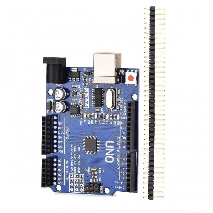 One set UNO R3 (CH340G) MEGA328P for Arduino UNO R3 for Your Arduino DIY Porject (USB Cable Not Included)Boards &amp; Shields<br>ModelN/AQuantity1 setMaterialABSEnglish Manual / SpecYesDownload Link   noForm  ColorBluePacking List1 x Module Kit<br>