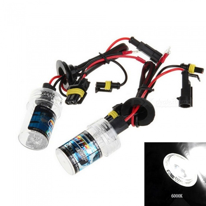 H3 12V 35W 6000K Cold White 3500LM Car HID Xenon Headlamp (2 PCS)Headlights<br>Color Temperature6000KModelH3Quantity1 DX.PCM.Model.AttributeModel.UnitMaterialPlastic + quartz tubeForm  ColorBlack + Red + Multi-ColoredTypeHID LampCompatible Car ModelSuitable for all 12V cars with H3 interface.TypeACInput Voltage9~16 DX.PCM.Model.AttributeModel.UnitRate Voltage12VOutput Power35 DX.PCM.Model.AttributeModel.UnitColor BINWhiteTheoretical Lumens3500 DX.PCM.Model.AttributeModel.UnitActual Lumens3500 DX.PCM.Model.AttributeModel.UnitLife Span30000 DX.PCM.Model.AttributeModel.UnitSocket TypeH3Packing List2 x Headlights<br>