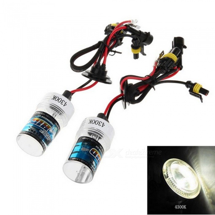 H3 12V 35W 4300K Warm White 3500LM Car HID Xenon Headlamp (2 PCS)Headlights<br>Color Temperature4300KModelH3Quantity1 DX.PCM.Model.AttributeModel.UnitMaterialPlastic + quartz tubeForm  ColorBlack + Red + Multi-ColoredTypeHID LampCompatible Car ModelSuitable for all 12V cars with H3 interface.TypeACInput Voltage9~16 DX.PCM.Model.AttributeModel.UnitRate Voltage12VOutput Power35 DX.PCM.Model.AttributeModel.UnitColor BINWarm WhiteTheoretical Lumens3500 DX.PCM.Model.AttributeModel.UnitActual Lumens3500 DX.PCM.Model.AttributeModel.UnitLife Span30000 DX.PCM.Model.AttributeModel.UnitSocket TypeH3Packing List2 x Headlights<br>