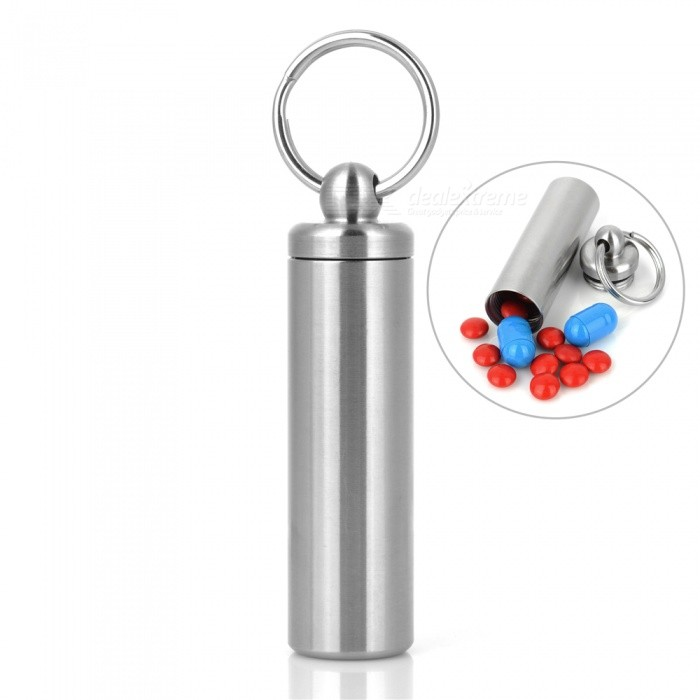 FURA 304 Stainless Steel Waterproof Sealed Bottle Container for Outdoor - SilverForm  ColorSilverQuantity1 pieceMaterial304 Stainless SteelBest UseFamily &amp; car camping,Mountaineering,Travel,CyclingTypeOthers,Waterproof bottle containerPacking List1 x Waterproof Bottle Container<br>