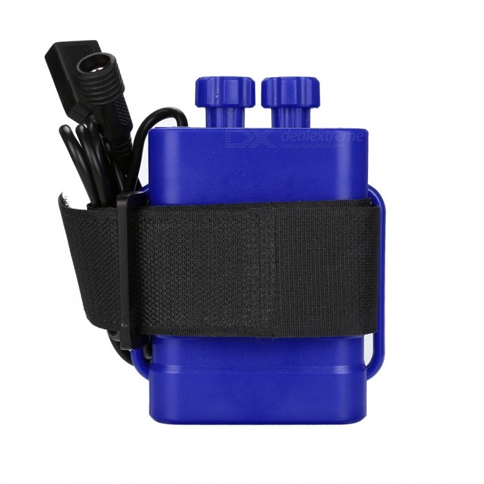 6x18650 8.4V Water Resistant Battery Pack for Bike Light - BlueOthers Parts<br>Form  ColorBlueQuantity1 pieceMaterialABS + metalSuitable Flashlight TypeBike lightPacking List1 x Battery Pack<br>