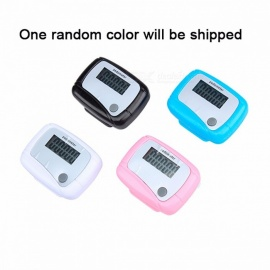 Light Weight Sports LCD Clip-on Step Counter Run Walking Pedometer Distance Calorie Sale 99,999 Counts - Random Colour
