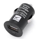 Mini Car Cigarette Powered 1000mA USB Adapter/Charger - Black (DC 12V)