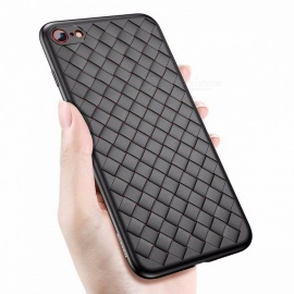 baseus creative grid silicone luxury ultra sottile custodia in TPU per IPHONE 8 IPHONE 8 plus 7 7 plus IPHONE X per iphone 7 / nero lusso