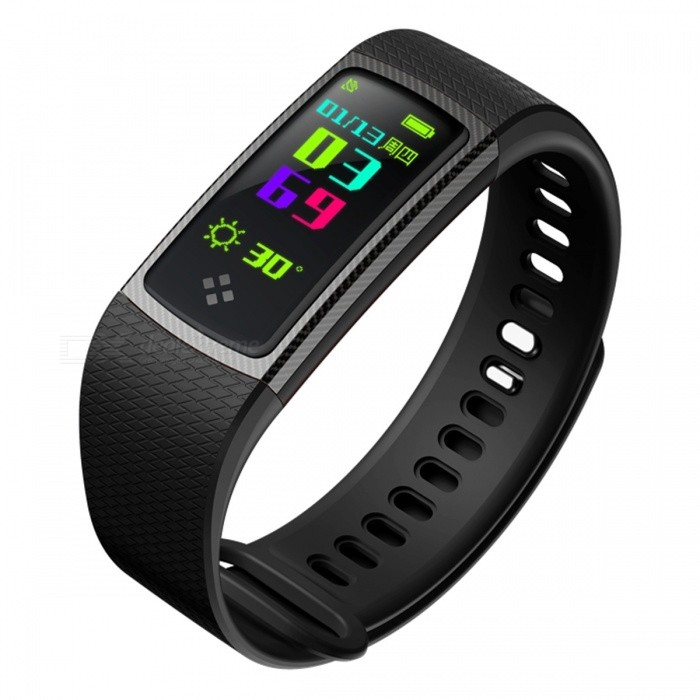 S9 Sports Intelligent Smart Bracelet Wristband with Blood Oxygen, Blood Pressure, Heart Rate Monitor - BlackSmart Bracelets<br>Form  ColorBlackQuantity1 DX.PCM.Model.AttributeModel.UnitMaterialABSShade Of ColorBlackWater-proofIP67Bluetooth VersionBluetooth V4.0Touch Screen TypeYesCompatible OSAndroid 4.3 and above or iOS 8.0 and aboveBattery Capacity90 DX.PCM.Model.AttributeModel.UnitBattery TypeLi-polymer batteryStandby Time5-7 DX.PCM.Model.AttributeModel.UnitPacking List1 x Smart Bracelet1 x Charging cable1 x User Manual<br>