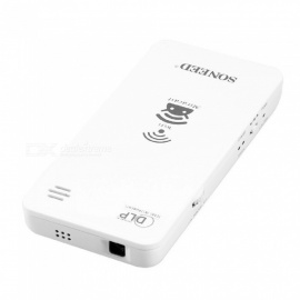 SP-1200W Portable Mini Handheld High Definition Micro LED Projector for Home Use - White (EU Plug)