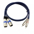 2 Meters Dual Cannon XLR to Dual RCA Male to Male Audio Cable