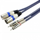 0.5 Meters Dual Cannon XLR to Dual RCA Male to Male Audio Cable