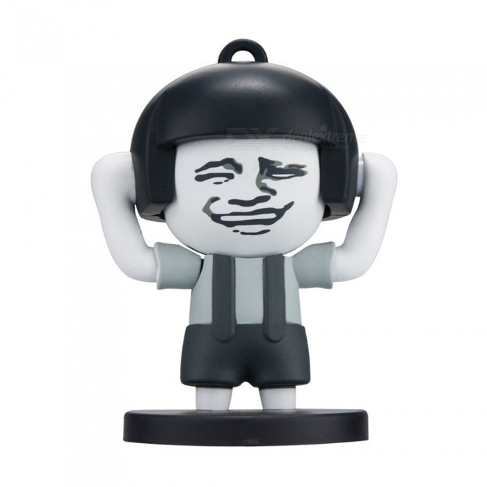 Mini Cute Super Funny Mushroom Head Face Expression Changing Keychain ToyFinger Toys<br>Form  ColorBlack + Grey White + Multi-ColoredMaterialPVCQuantity1 setSuitable Age 5-7 years,8-11 years,12-15 years,Grown upsPacking List1 x Toy<br>