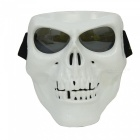Buy CARKING Creepy Horror Skull Protective Mask CS Paintball Movie Party Cosplay Game Props - White + Translucent Black
