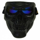 CARKING Creepy Horror Skull Protective Mask for CS Paintball Movie Party Cosplay Game Props - Black + Blue