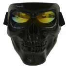 CARKING Creepy Horror Skull Protective Mask for CS Paintball Movie Party Cosplay Game Props - Black + Yellow