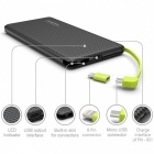 Ugreen Portable Thin Slim Dual USB 10000mAh Power Bank External Battery Powerbank with Charging Cable for Mobile Phones Black