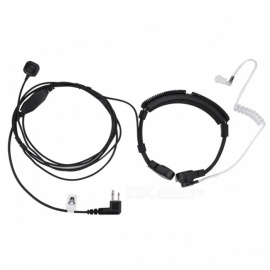 Retractable Neck-Band Type M Head Throat Control Catheter Tube Headset Headphone for Motorola Walkie-Talkie Interphone