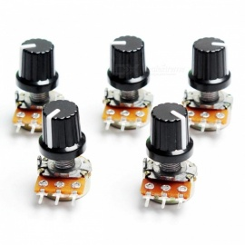 ZHAOYAO 5Pcs 10K OHM 3 Terminal Linear Taper Rotary Potentiometer B10K 103 for Arduino