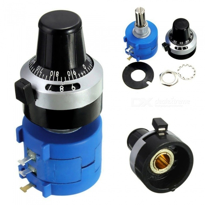 ZHAOYAO 3590S-2-103L 10K Ohm Potentiometer with 10 Turns Counting Dial Rotary KnobOther Accessories<br>Form  ColorBlack + Blue + Multi-ColoredModel3590S-2-103LQuantity1 setMaterialPlasticDownload Link   noCertification-Form  ColorBlack + Blue + Multi-ColoredPacking List1 x 10K Ohms potentiometer<br>