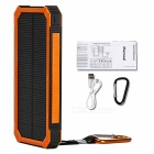Tollcuudda Portable 10000mAh Mobile Solar Powerbank Power Bank, External Battery Charger for Xiaomi, IPHONE, and More Phones orange