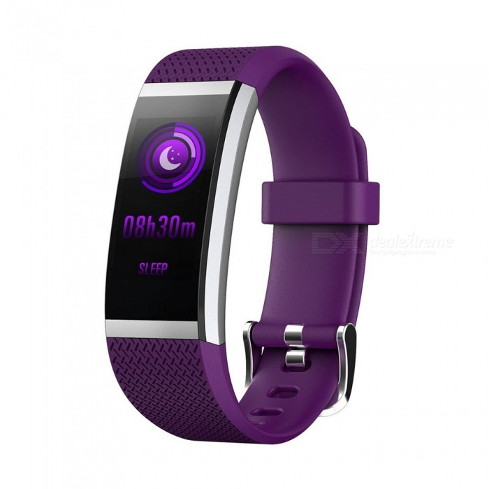 FIT HR2 Waterproof Sports Smart Bluetooth Bracelet with Heart Rate Monitor, Information Call Reminder for Android, iOS - PurpleSmart Bracelets<br>Form  ColorPurpleModelFIT HR2Quantity1 DX.PCM.Model.AttributeModel.UnitMaterialTPUShade Of ColorPurpleWater-proofIP67Bluetooth VersionBluetooth V4.0Touch Screen TypeIPSOperating SystemAndroid 4.4,iOSCompatible OSAndroid IOSBattery Capacity65 DX.PCM.Model.AttributeModel.UnitBattery TypeLi-polymer batteryStandby Time15 DX.PCM.Model.AttributeModel.UnitPacking List1 x Smart Bracelet1 x Charging Cable1 x Manual<br>